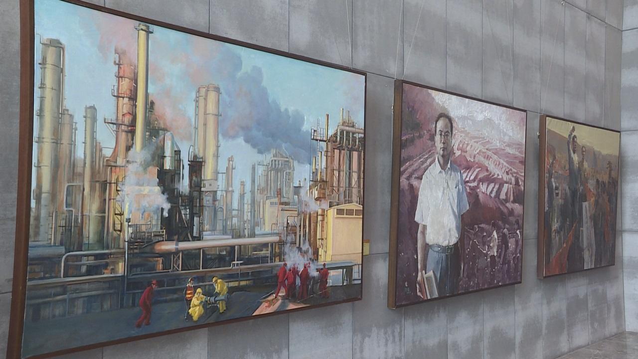 百年历程 辉煌成就——庆祝中国共产党成立100周年甘肃省美术作品展在兰开幕