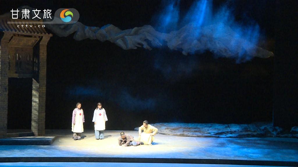 秦腔现代戏《肝胆祁连》——高金城被受伤红军的爱国精神深深打动