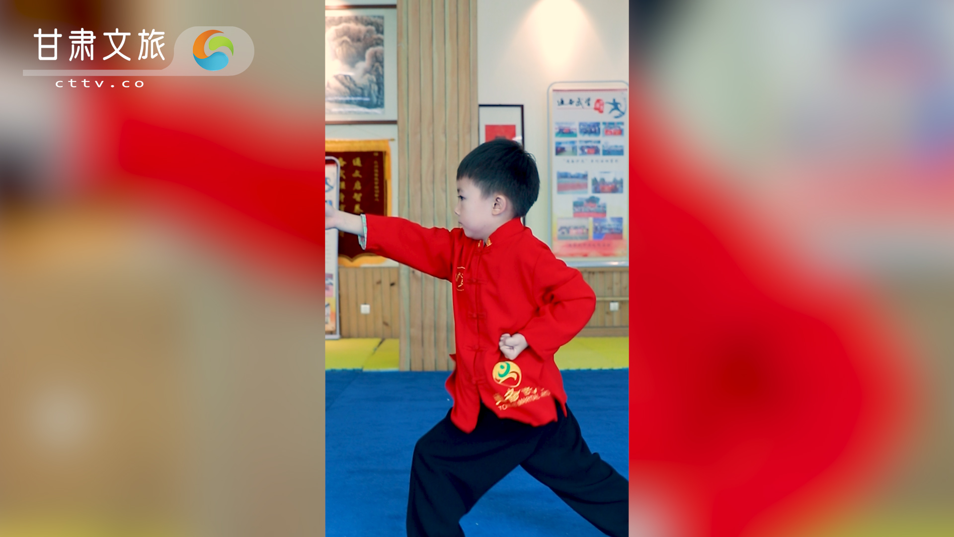 练传统武术的萌娃,太撩人