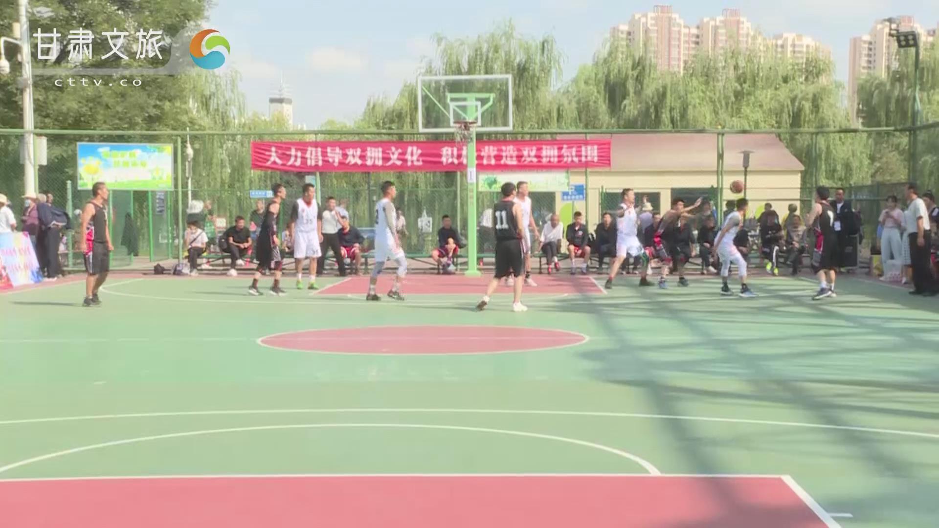 """兰州市第八届""""双拥杯""""篮球赛开赛,40支军地代表队展开100余场次激烈比赛"""