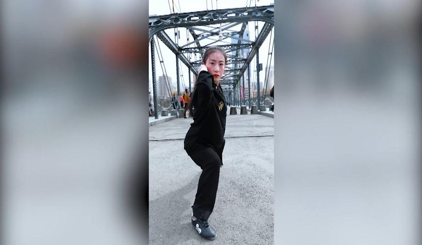 中山桥上,震步虎掌