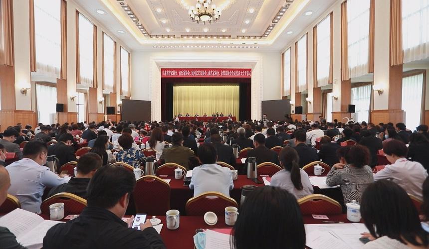 甘肃省文联所属文艺家协会第一批换届会议胜利召开,陈青出席会议并讲话